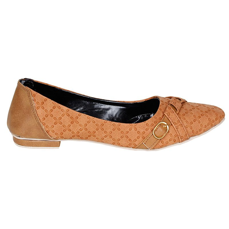 Lovely Chick Tan women Belly Shoes at Rs 469 5462798  Voonik India