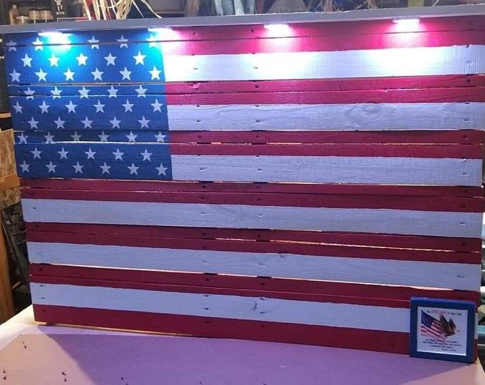 American flag, Made to look Very Vintage, old, Rustic Pallet Flag. Wood American flag, Distressed American Flag. Pallet Flag.