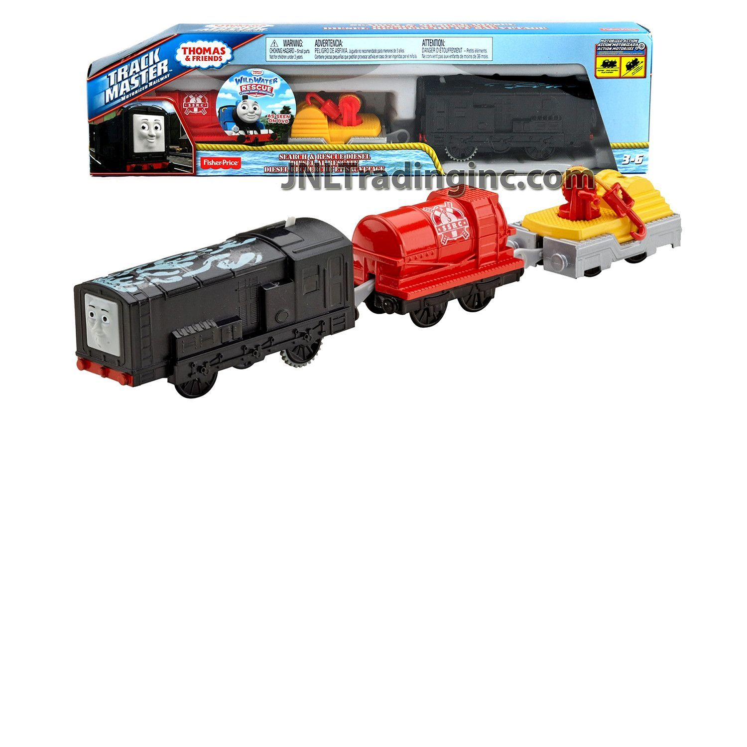 Thomas and Friends Trackmaster Motorized Railway 3 Pack Train Set ...