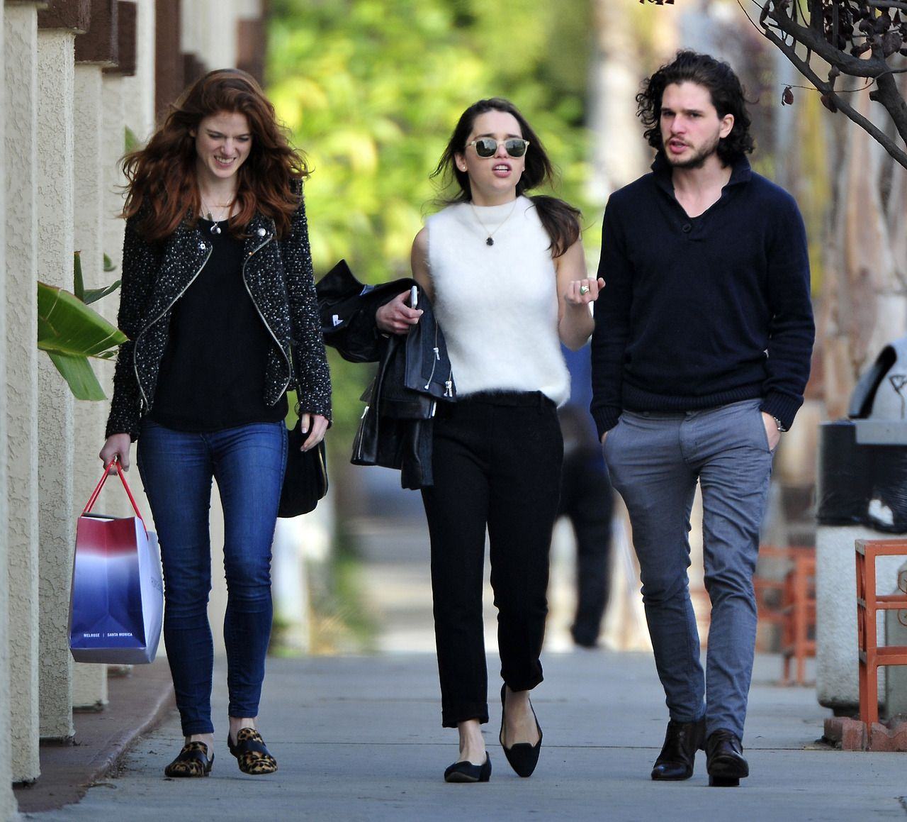 Rose Leslie, Emilia Clarke, And Kit Harington Some Of The -4123