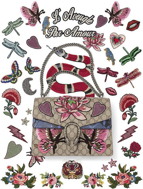 268d4310737 Gucci has launched a new DIY service so you can personalize your Dionysus  handbag. Check out some of the customizations.