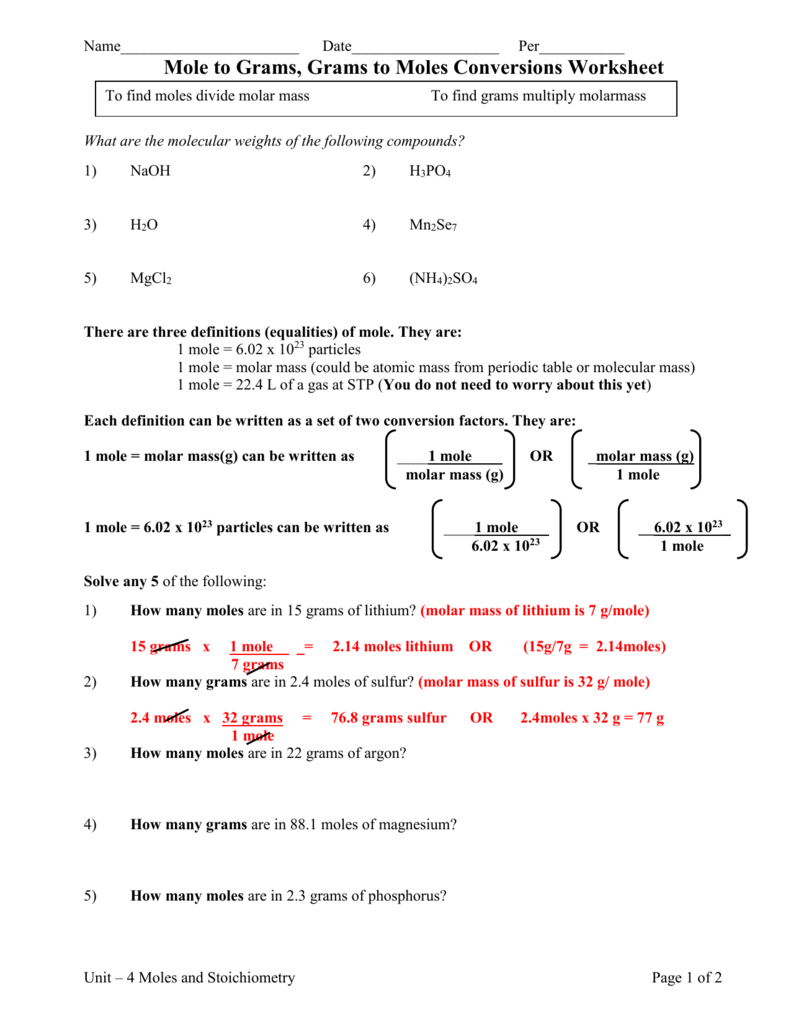 - Worksheet. Molemole Stoichiometry Worksheet Answers. Grass Fedjp