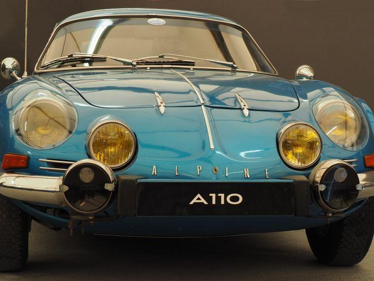 breathtaking wallpaper Alpine A110 classic car front wallpaper