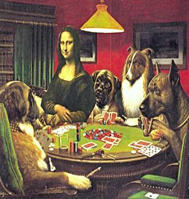 Mona Playing Poker Dogs Playing Poker Dog Art Posters Art Prints