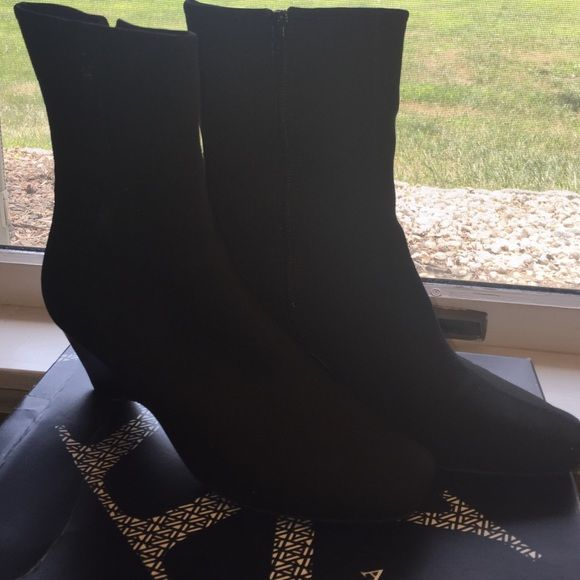 Anne Klein Aksohoe boots Black Anne Klein boots. Mint condition. Authentic and in original box. Anne Klein Shoes