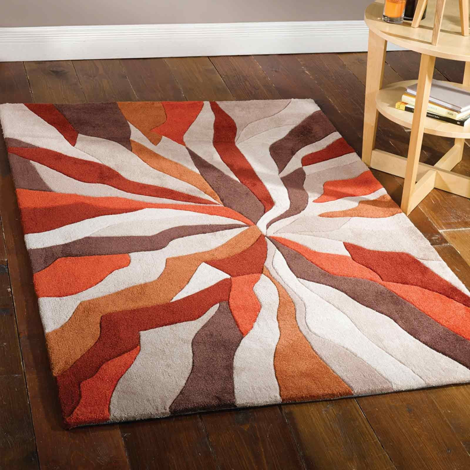 Infinite Splinter Orange Rug Orange Rugs Rugs On Carpet