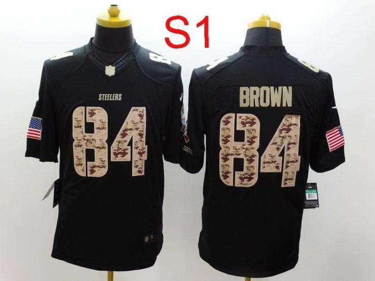 60584c3fceb Men 84 Antonio Brown Jersey Football Pittsburgh Steelers Jersey ...
