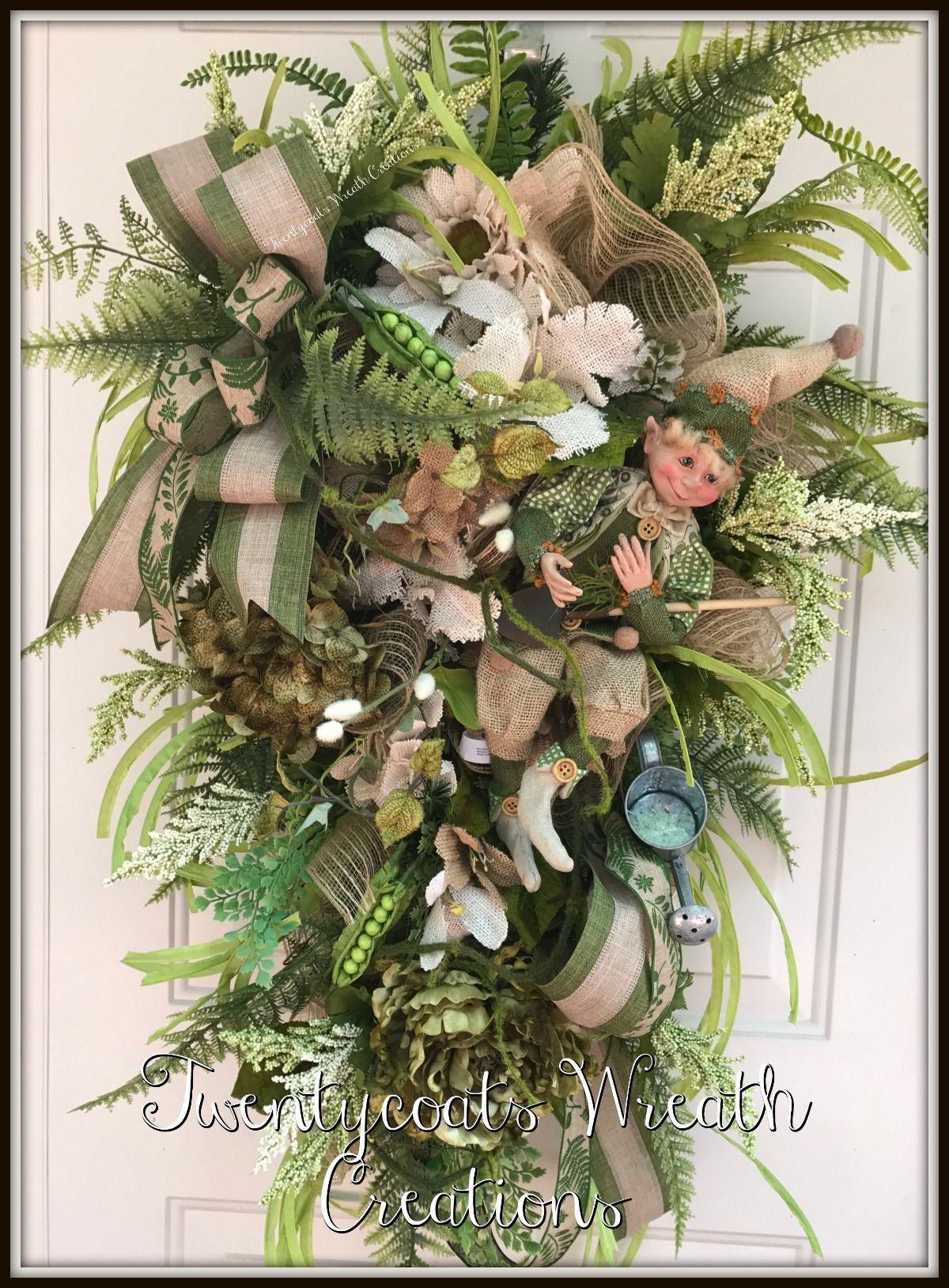Garden Elf swag by Twentycoats Wreath Creations (2017)   wreaths ...