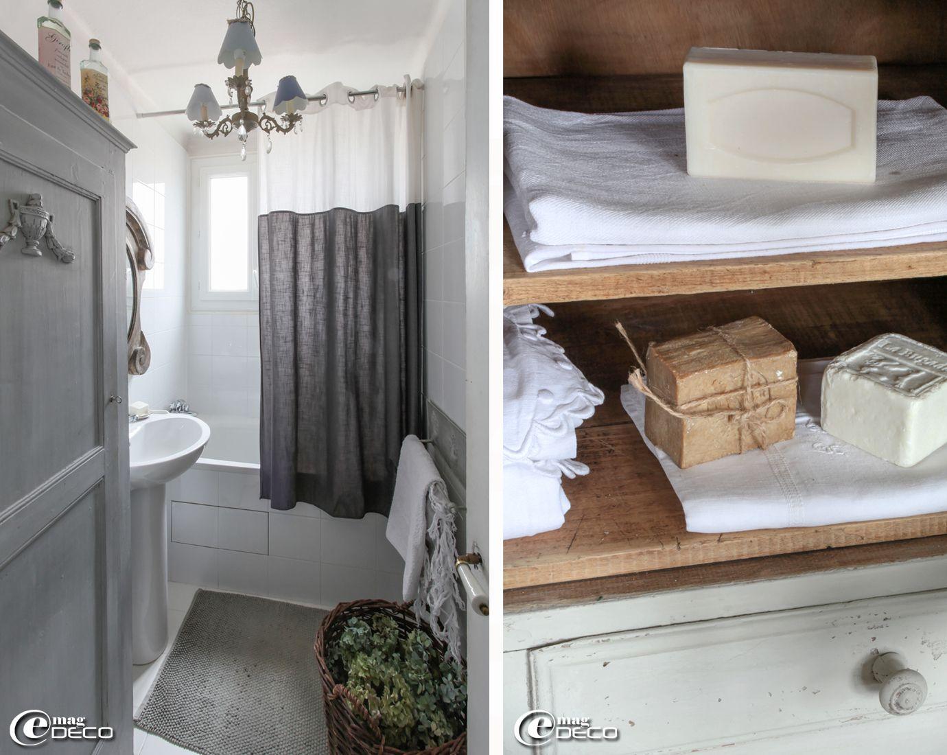 salle de bains d cor e dans des tonalit s de gris est. Black Bedroom Furniture Sets. Home Design Ideas