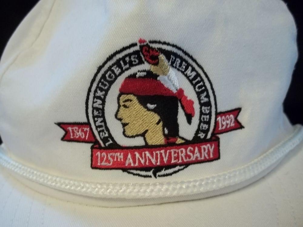 Leinenkugel s Beer 125th Anniversary Cap Hat Vintage 1992 Snapback Logo 3c66e4f54a5
