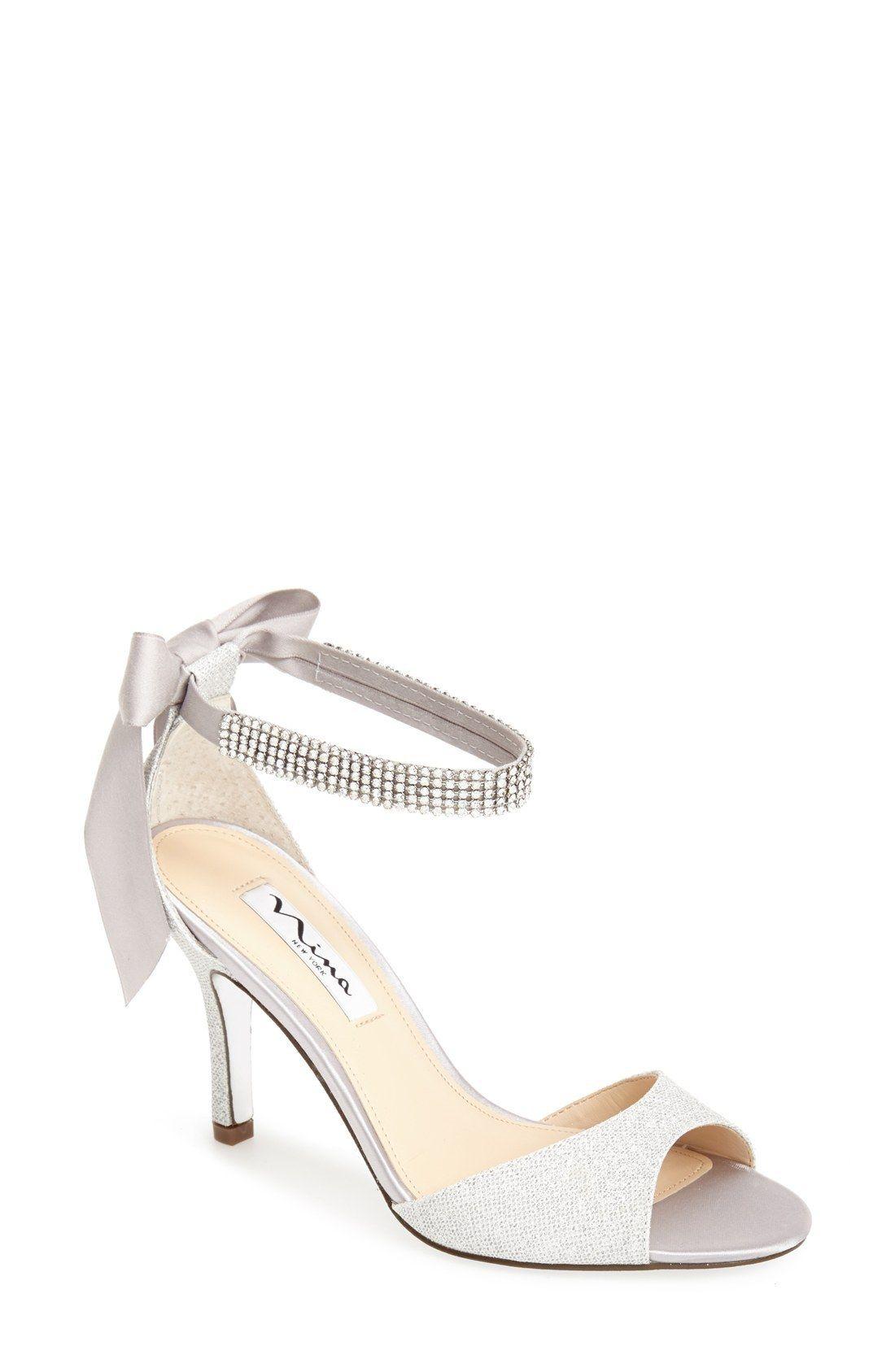 NINA Women's 'Vinnie' Crystal Embellished Ankle Strap Sandal kNFCRM