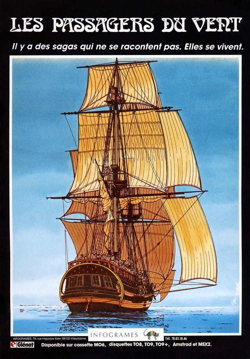 Les Passagers Du Vent (kinderen van de wind) ad for MSX2.