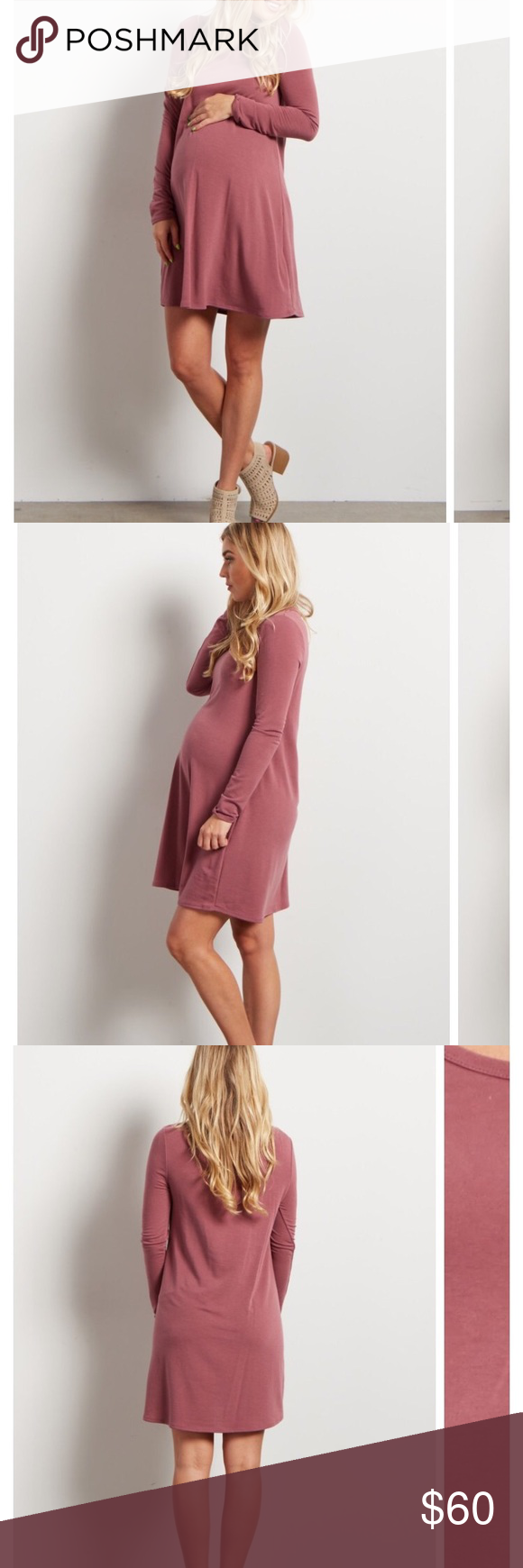 Maternity dress maternity dresses mauve and gold
