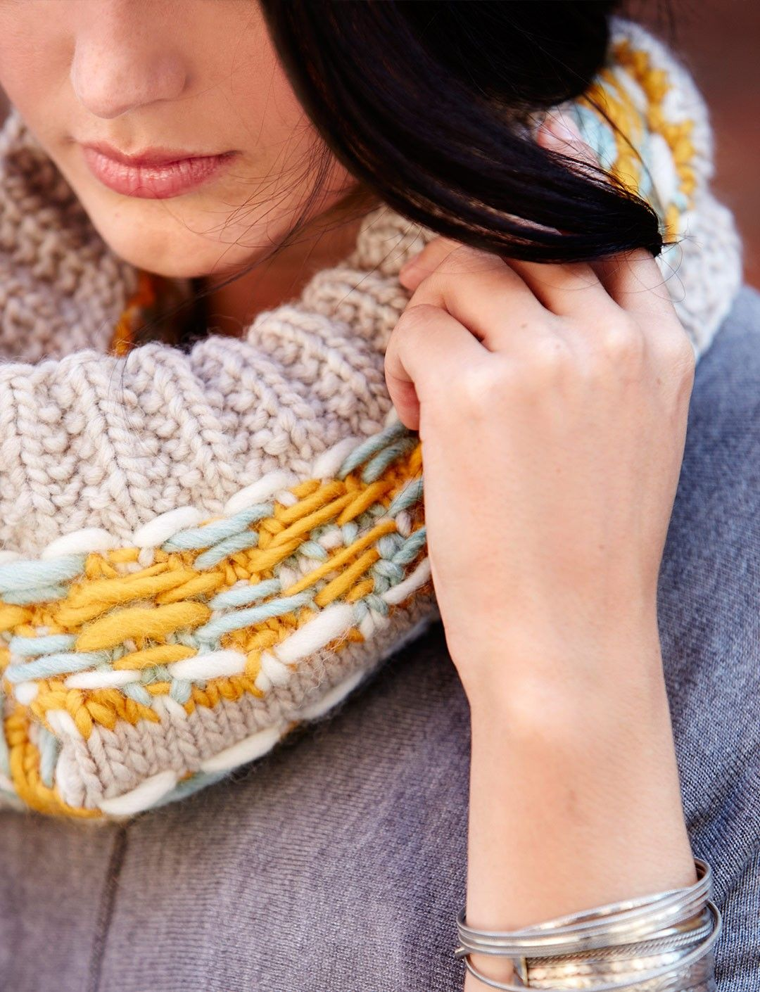 Strand-tastic Cowl #knit in Patons Classic Wool Roving (free pattern ...