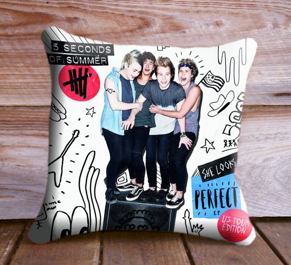NOT for me - this would be for my stepsister lol 5SOS 5 Seconds of Summer She Looks Perfect Pillow by CushionCase, $13.00