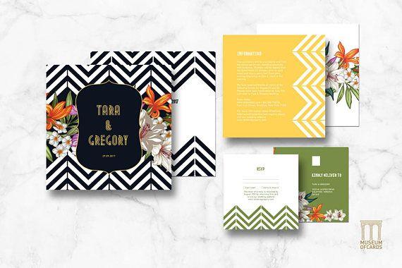 wedding invitation set patterns and flowers invite rsvp