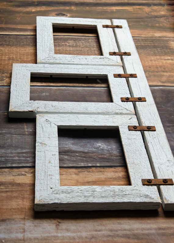 Barnwood Mixed Collage Frame. 3 5x7 Multi Opening Frame. | Design ...