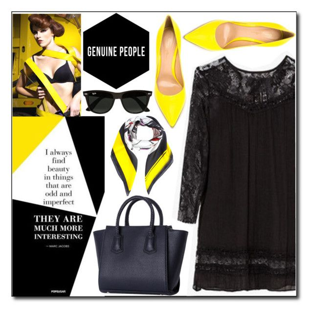 """""""Come with me..."""" by sombre-lune ❤ liked on Polyvore featuring Gianvito Rossi, Ray-Ban and Dsquared2"""