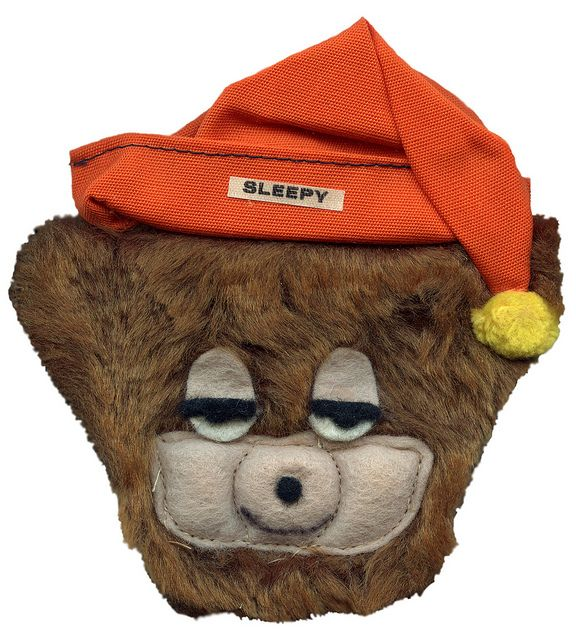 Sleepy Bear Furry Head Magnet, via Flickr.