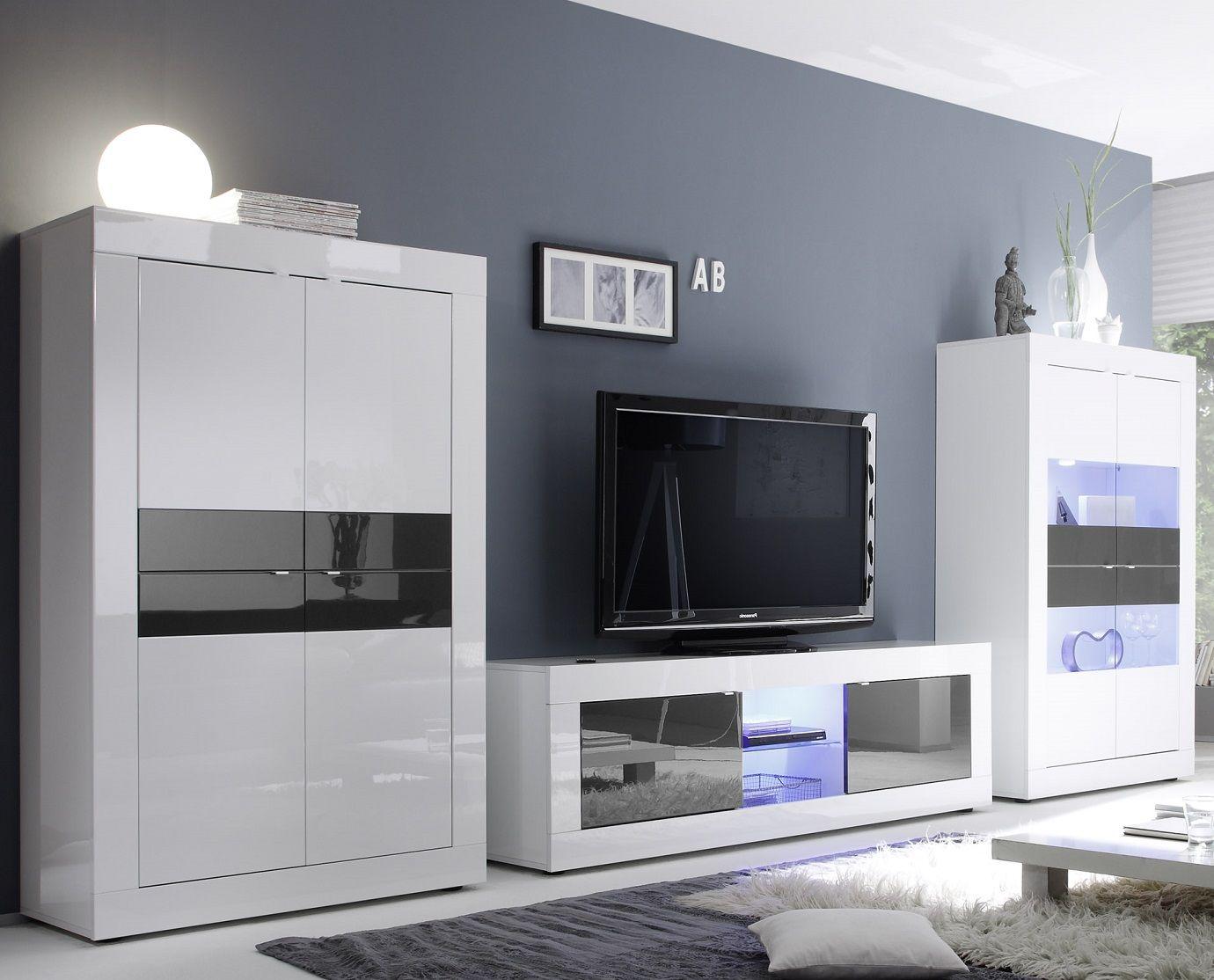Fabulous basic gloss is een modern compleet van italiaans for Complete meubelset