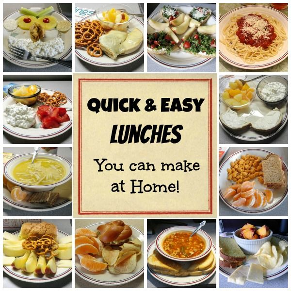 Quick and easy lunches even kids will love connecticut for Easy things to make for dinner for two