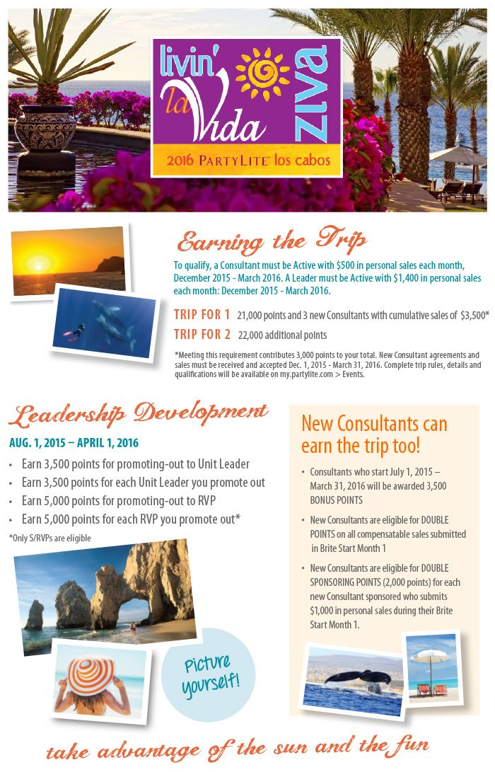 Join Team Partylite In Los Cabos Mexico Work It Pinterest