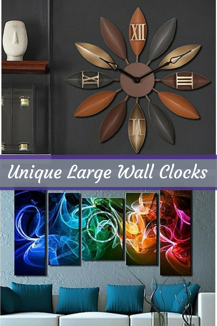 Unique Large Wall Clocks Are An Easy Way To Bring Life To A Boring