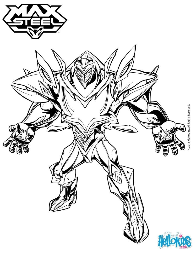miles dredd  max steel and the other superhero characters coloring page  more max steel coloring