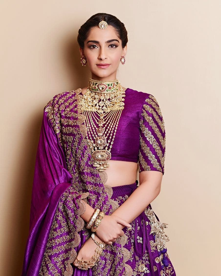 Sonamkapoor Looks Surreal In Our Royal Purple Lehenga
