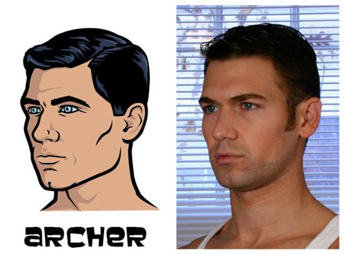 See The Real Models For The Archer Characters Archer Characters Archer Tv Show Sterling Archer