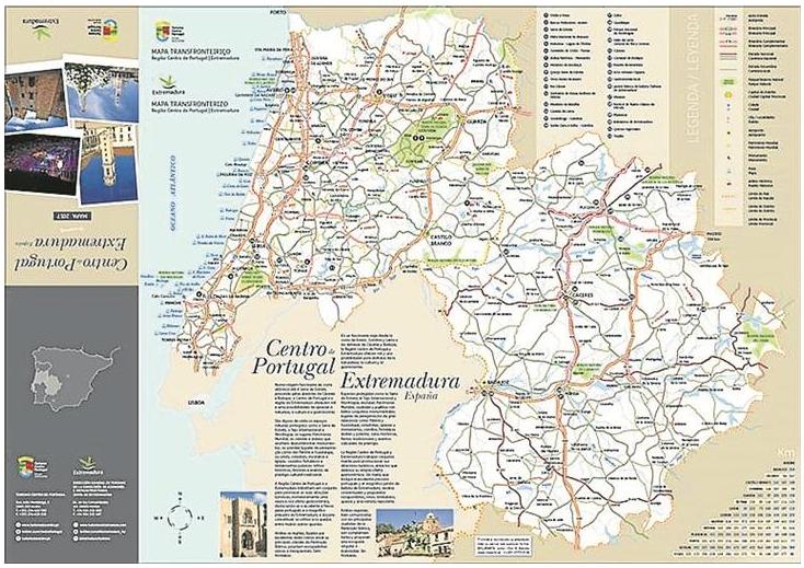 Mapa Transfronteiriço Centro De PortugalExtremadura GO Maps - Portugal estremadura map