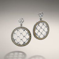 NAGA COLLECTION Small Round Drop Earrings