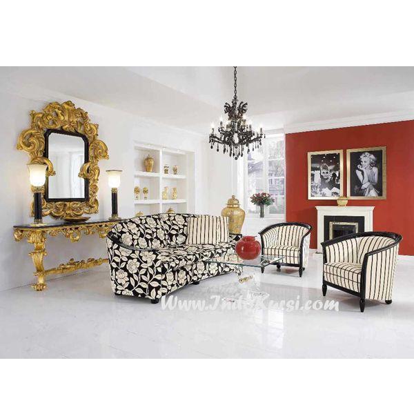 Jual Kursi Sofa Tamu Mewah Cat Hitam desain Kursi Ruang Tamu yang ...