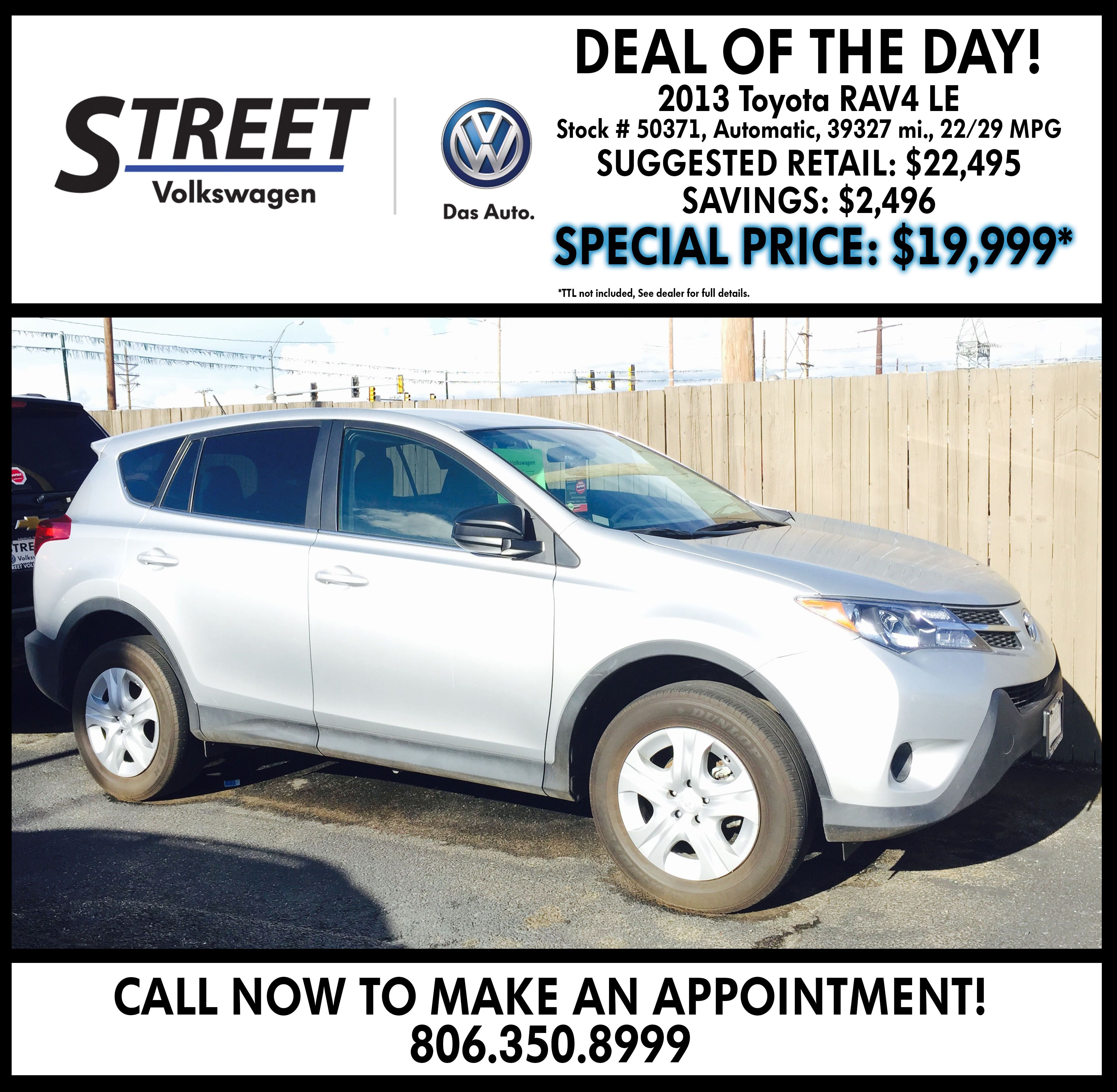 Volkswagen Dealership Amarillo Tx Used Cars Street Volkswagen Of Amarillo Volkswagen Used Cars Toyota Rav4