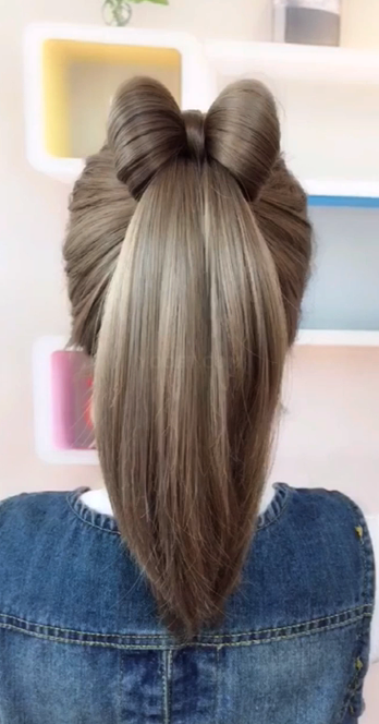 Easy Hairstyle Girls Girls Easy Hairstyle Cute Hairstyle Girls Quick Hairstyle For Girls Cute Hairstyle For Bow Hairstyle Cool Hairstyles Long Hair Styles