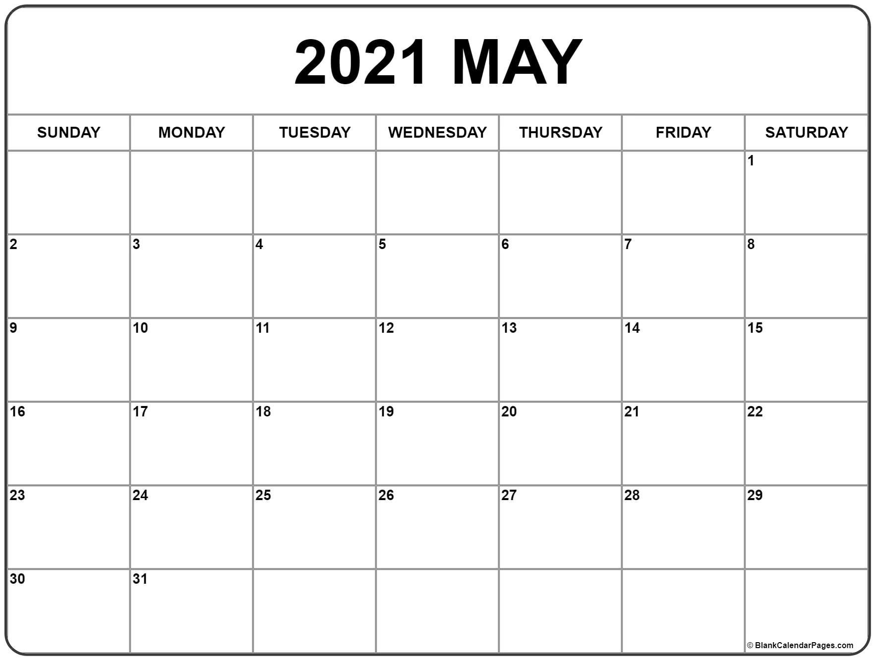 May 2021 Weekly Calendar Wallpaper