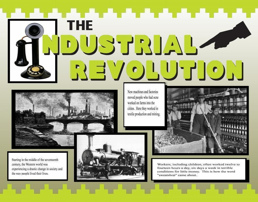 Make A Poster About The Industrial Revolution Invention Poster Ideas