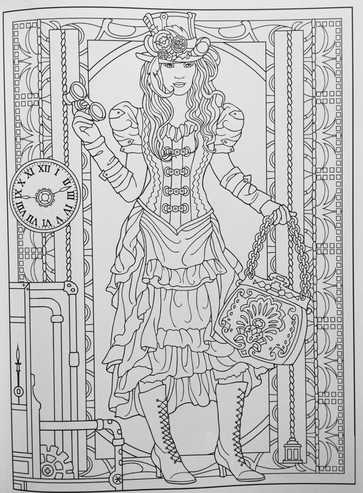 Creative Haven Steampunk Fashions Coloring Book (Creative Haven ...