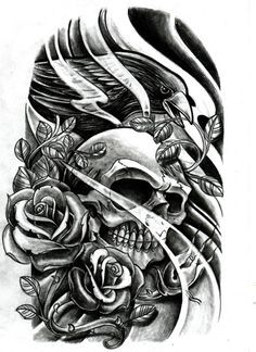 day of the dead skulls coloring pages | large printable skull ... - Coloring Pages Roses Skulls