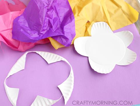 Paper plate tissue paper flower kids craft crafts pinterest paper plate tissue paper flower kids craft mightylinksfo