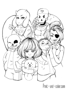 Pin On Undertale Coloring Pages