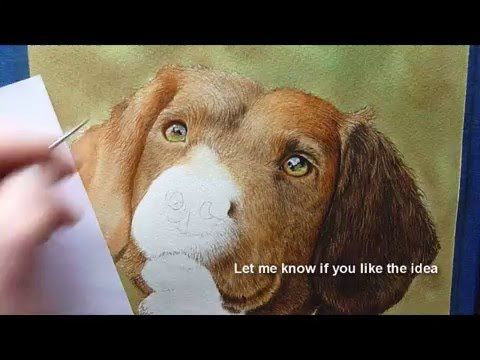Dog Fur Watercolour Painting Tutorial How To Paint An Ear