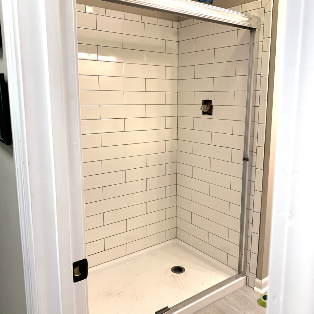 Life With Neal Suz Check Out Our Diy Projects In 2020 Shower Tile Installation Shower
