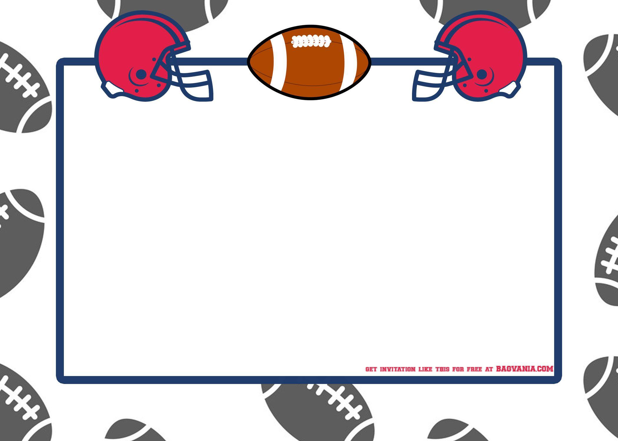 free american football invitation template