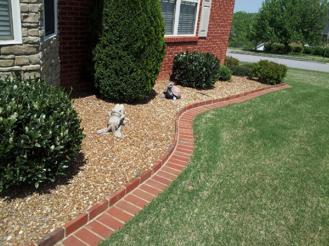 brick flower bed edging How To Make A Flower Bed Edging