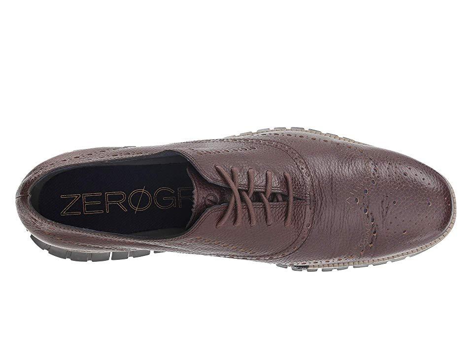 men's zerogrand wingtip oxford black