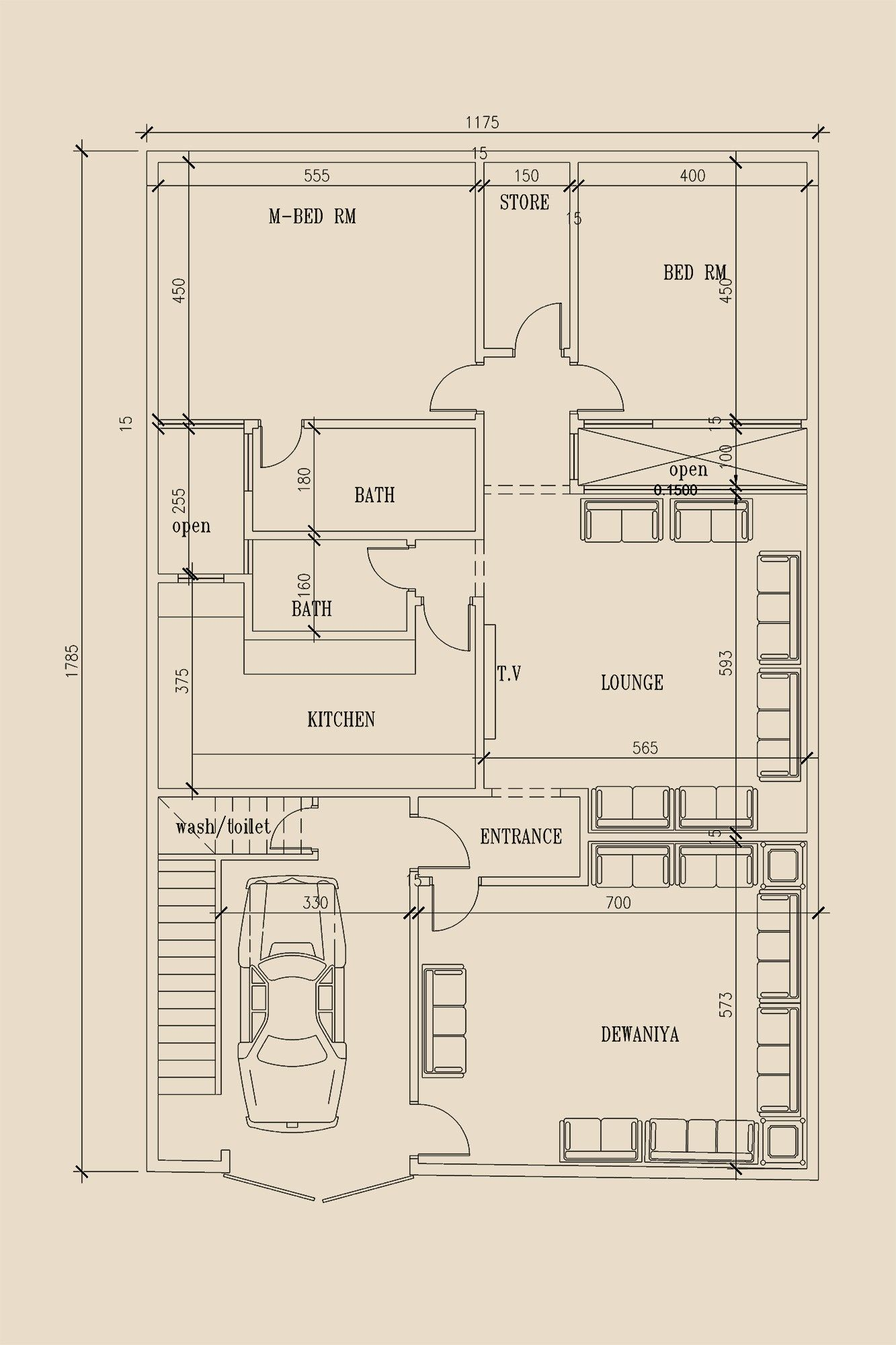 8 Marla Single Story House Plan By 360 Design Estate 20x40