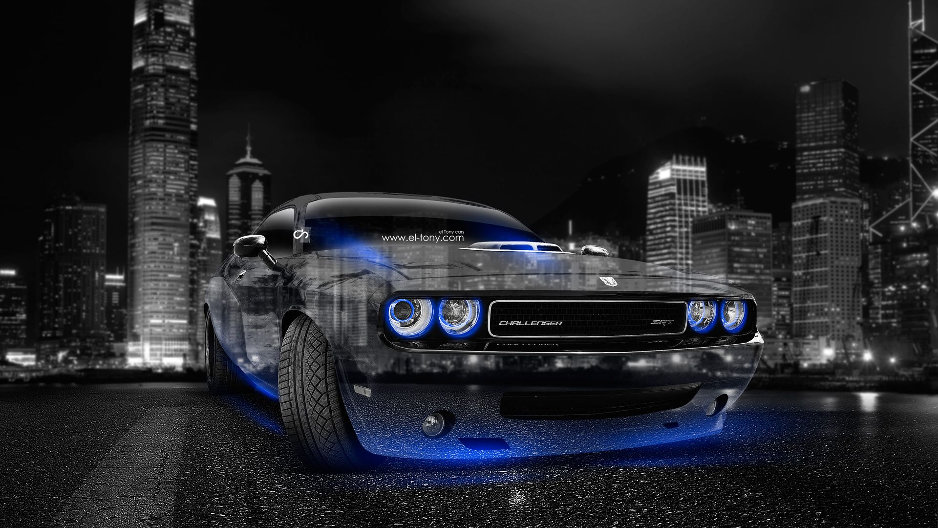 Dodge Challenger Muscle Crystal City Car 2014 Blue