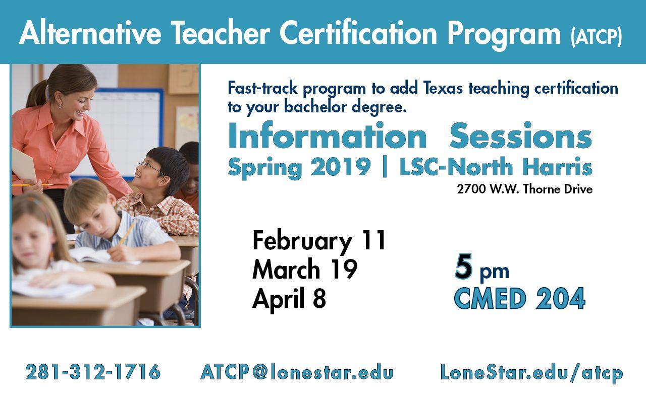 Attend The Alternative Teacher Certification Program