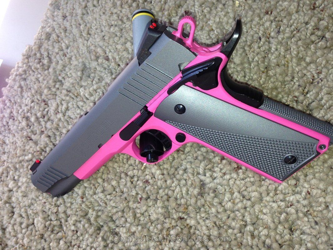 cerakote coatings h 224 sig pink with h 227 tactical grey [ 1066 x 800 Pixel ]